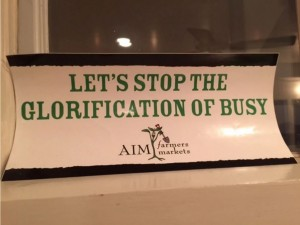 A bumper sticker in a very wise friend's kitchen window. Photo by Sydney Trent